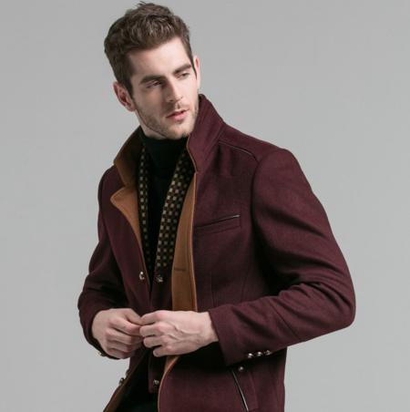 波司登(BOSIDENG) 中长款羊毛呢外套 50%羊毛 送纯棉衬衣 ¥199
