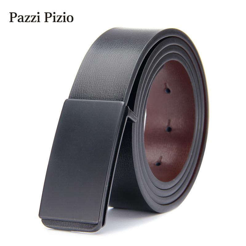 ¥29.9 PazziPizio柏芝斐乐 男士皮带真皮腰带 (B01永黑 110cm)
