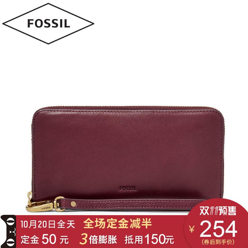 双11预售: FOSSIL EMMA系列 SL7153 女士长款钱包 254元包邮(双重优惠,50元定金,11.11付尾款)