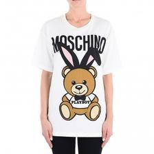 萌化了!Moschino莫斯奇诺 女士Play boy小熊T恤 亚马逊海外购 5.8折 直邮中国 ¥
