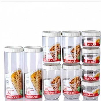 京东商城 乐扣乐扣 冰箱侧门塑料收纳罐十件套 (限时特价)79元