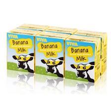 ¥19.9 爱尔兰进口牛奶VIVA 韦沃 香蕉牛奶200ML*6盒 凑单品