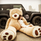 爱满屋 泰迪熊毛绒玩具 1.3m*2件 满减后168元包邮 折84元/件...
