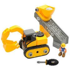 卡特CAT美国品牌玩具汽车3岁儿童大零件仿真工程车模型拼装-挖土机工程车