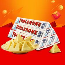 瑞士三角(Toblerone) 白巧克力 100g*6条 口感细腻幼滑 ¥39