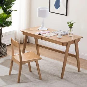 恒兴达 日式白橡木电脑桌椅 1.2米书桌+书椅¥1599