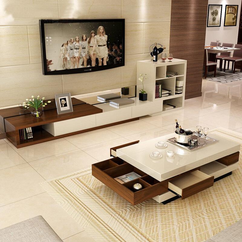¥1899 A家家具 茶几电视柜组合
