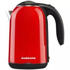 格来德(Grelide) WWK-D1701K 1.7L 电热水壶 59元