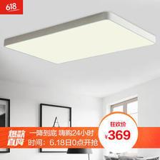 HD LED吸顶灯 超薄客厅灯卧室灯北欧现代简约灯具 方形系列 72W遥控调光白色