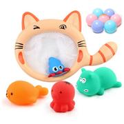 麦宝创玩 宝宝洗澡玩具 小萌猫捞鱼+4只小动物+3只海洋球 14.9元包邮 用5元券后 可3件7折'