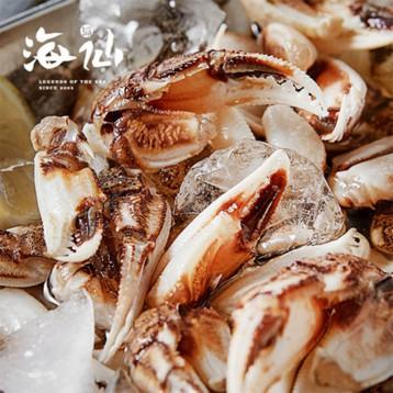 超棒下酒菜!海仙派 即食海鲜秘制生腌醉蟹钳 350g 6.6折 ¥19