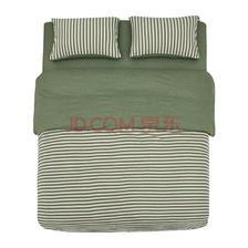 ¥145 网易严选 全棉针织条纹四件套 新款纯棉时尚床上用品被套床单床笠枕