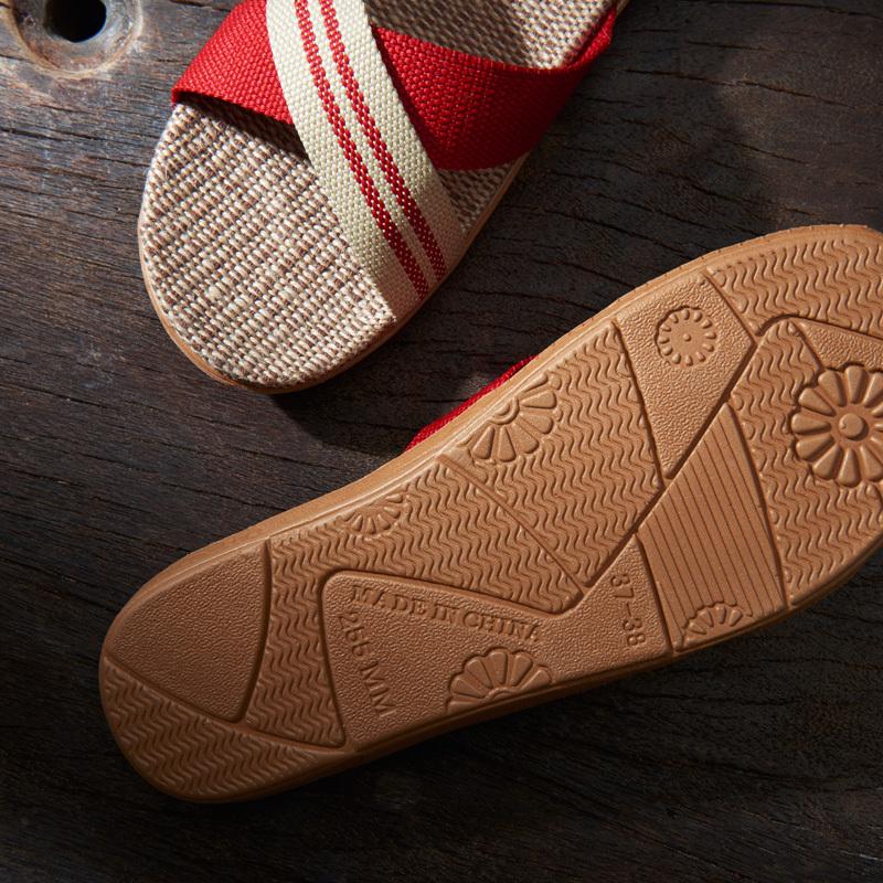 ¥20.8 【买一送一】远港夏季情侣亚麻拖鞋