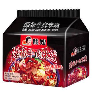 龙嫂 爆椒牛肉 袋装免煮方便面 5连包 500g *8件 52.4元(合6.55元/件)
