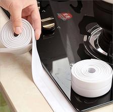 厨卫防水防霉胶带厨房接缝美缝防潮防水条马桶缝隙墙角线贴 (两卷装) 50元