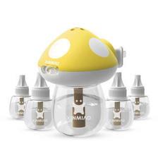 新妙(Xinmiao)电蚊香液55ml*5瓶(185晚)+1红加热器 无香型孕妇婴儿电热驱蚊