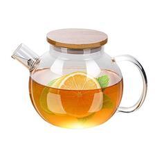 宝优妮茶壶耐热玻璃花茶壶不锈钢过滤冲茶器加厚功夫红茶茶具套装DQ9100-1 7