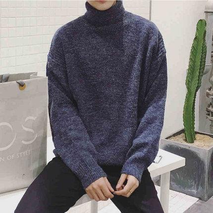 都兹 韩版男士 半高领打底针织衫 38元包邮