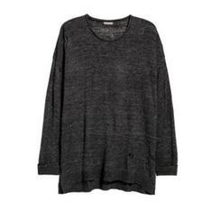 天猫 春上新:H&M 男2018年春季新款破洞套衫150元包邮(尺码齐全)