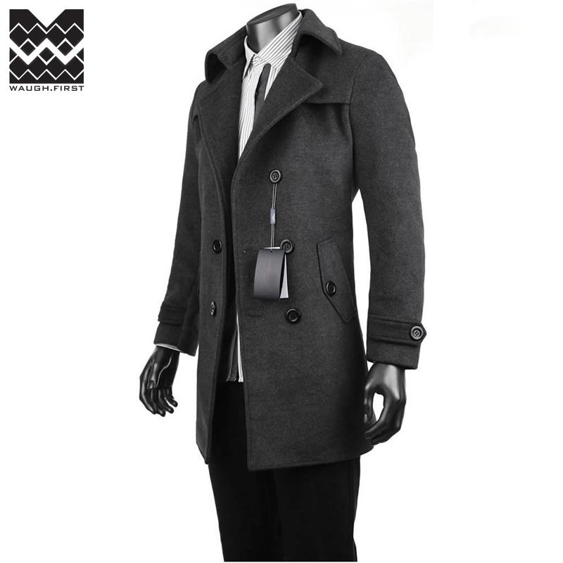 大衣男装冬装上衣修身呢子大衣男士风衣 券后 59元 券后59元包邮