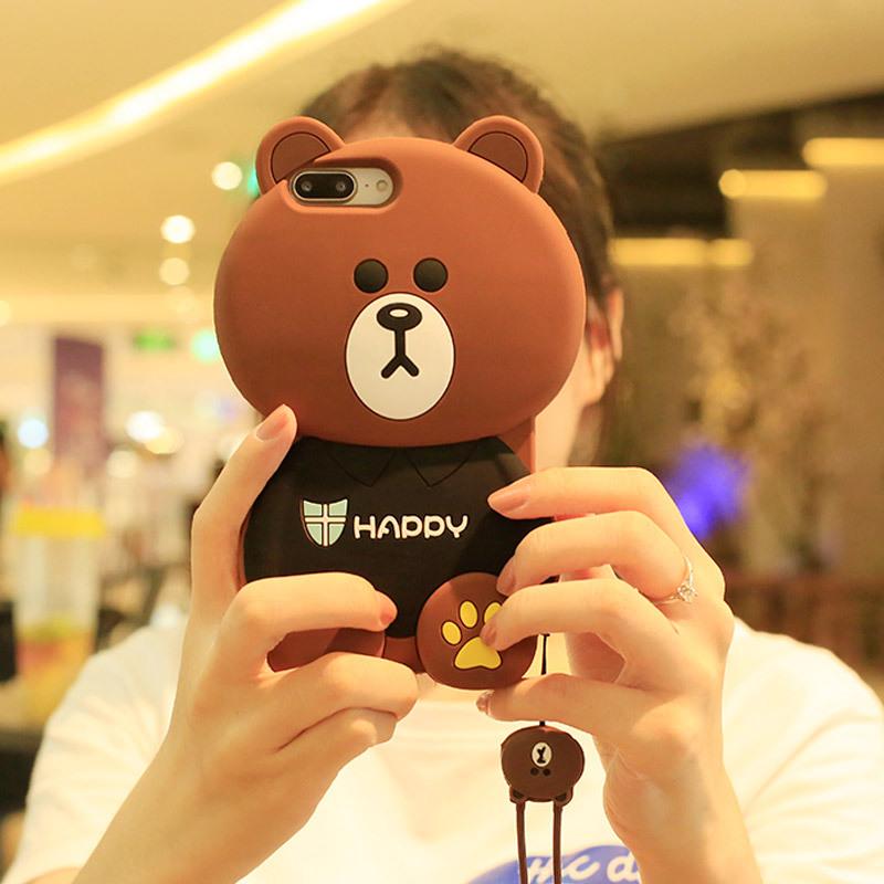 ¥12 可爱卡通iPhone6splus小熊手机壳8苹果X萌7p全包7硅胶5se女款套潮