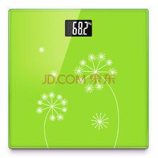 山鹰 SYE-903H-J 电子秤人体秤电子称体重秤家用 (绿色花语)24.65元