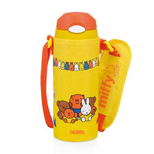 耐用便携!THERMOS膳魔师儿童保温保冷吸管杯米菲款FHL-400FB-Y 限时好价178元包