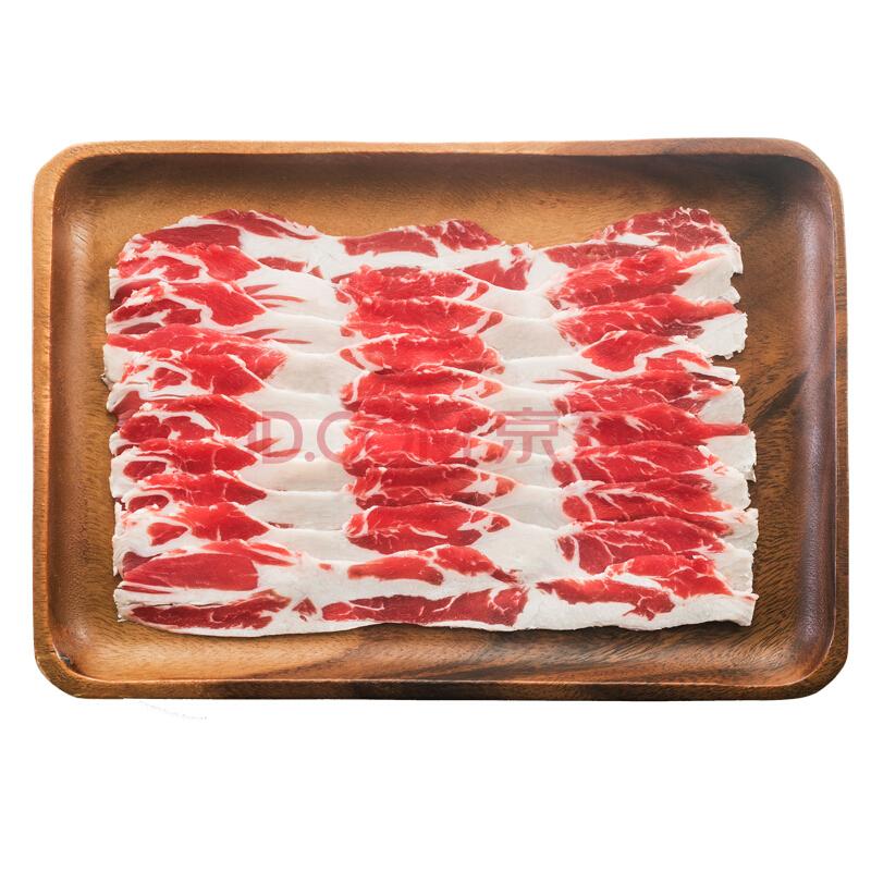 ¥35 宾西 腹肥切片 500g/袋 清真 牛肉片 谷饲 火锅食材