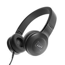 JBL E35 时尚折叠 贴耳式耳机 音乐耳机 一键通话线控 黑色(美国品牌 香港直
