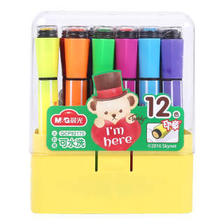 晨光(M&G)QCP92170 泰迪可洗六角印章水彩笔绘画笔12色/盒 *11件 83.95元(合7.6
