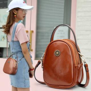 25日6点:纳兰杜 Nalandu 女包小包包韩版迷你手机包时尚女士单肩包牛皮手提斜挎小包 DB91808-B棕色 128元