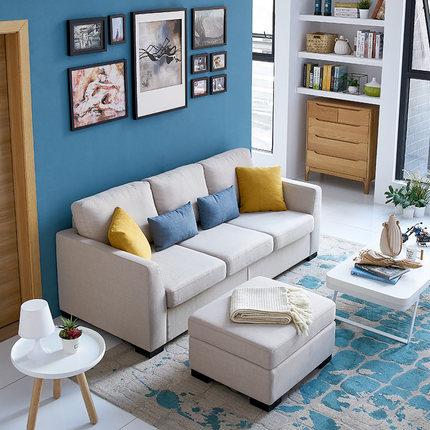 芝华仕(CHEERS) 5630 现代简约布艺沙发 20日0点预售 送抱枕*2+腰枕*2 小户型优选 ¥2189