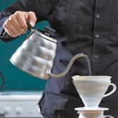 HARIO好璃奥 日本原装进口 不锈钢细口咖啡手冲壶600ml 亚马逊海外购 7.6折 直邮中国 ¥228.33