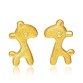 CHOW TAI FOOK 周大福 F175446 可爱小鹿 足金黄金耳钉 2.25g 709.95元包邮(双重优惠)