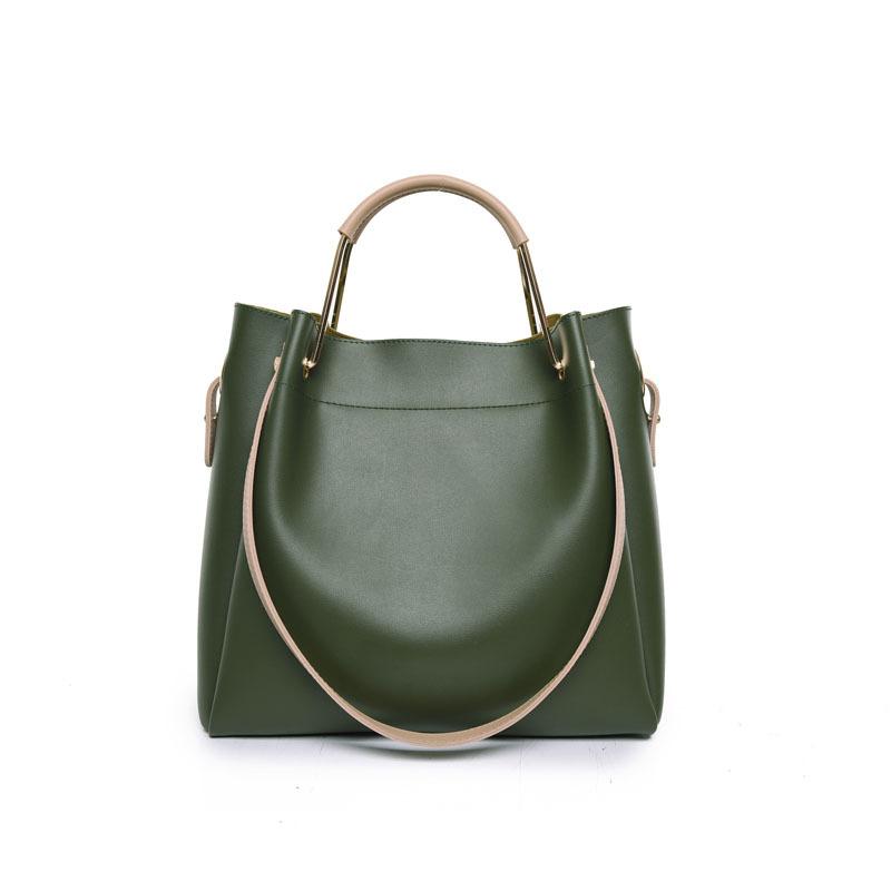 ¥59 代代花枳2017秋冬新款女包手提单肩大包包时尚休闲子母包购物袋包(黑色)