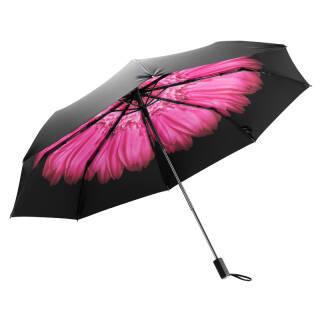 蕉下(BANANA UNDER)Black系列三折晴雨伞小黑伞防晒防紫外线遮阳伞 苏桃+凑单品  券后62元
