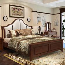 ¥1799 美天乐 实木床 框架款 1.8*2m