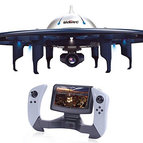 优迪玩具 WiFi图传无人机(4.3寸屏幕4G存储实时传输低压报警无头模式自动返航高低速模式)U945AWIFI 244.6元