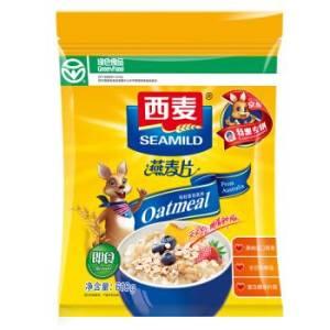 西麦 早餐谷物 无添加蔗糖 膳食纤维 即食 纯燕麦片618g *10件 49元(合4.9元/件)