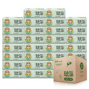 植护 原木3层抽纸30包整箱装 券后29.9元包邮 一元一包