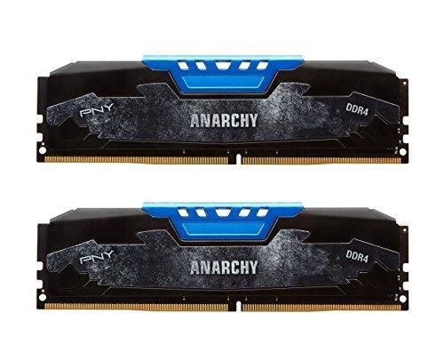 PNY Anarchy Kit DDR4 2133MHz PC4-17000 CL15 台式机内存 蓝色 2X8GB