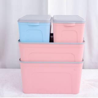 美宝琳 加厚塑料收纳箱整理箱4件套 衣服玩具储物箱 随机色 *2件 145.9元(合72.95元/件)