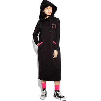 PASS 女装运动卫衣式连衣裙
