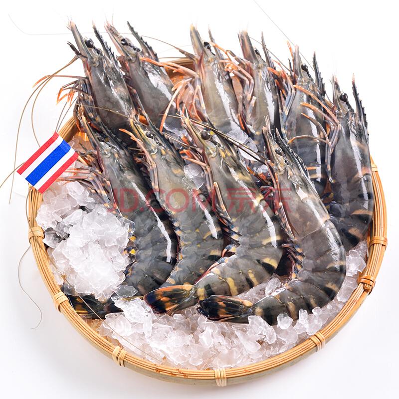 限地区,泰国进口 黑虎虾 约16-20只 400g*3袋48元