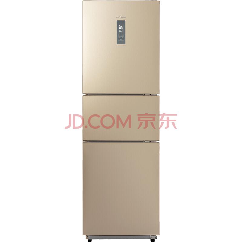 美的(Midea)226升 风冷无霜 电脑控温三门冰箱 中门24档调温 芙蓉金 BCD-226WTM(E)1899元
