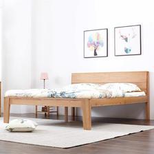维莎 大阪系列 w0830 日式1.5/1.8米纯实木双人床 20日0点预售 ¥1075