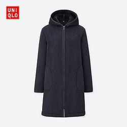 ¥168 UNIQLO 优衣库 400185 女款摇粒绒大衣