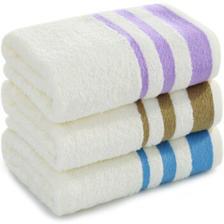 三利 毛巾家纺 初色素缎纯棉毛巾 32x70cm 洗脸面巾 超值3条装 10元