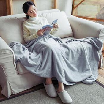 网易严选 素色暖绒盖毯 ¥89