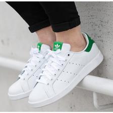 ¥389 adidas阿迪达斯女鞋2017新款三叶草运动鞋绿尾小白鞋休闲鞋板鞋M19536M1953